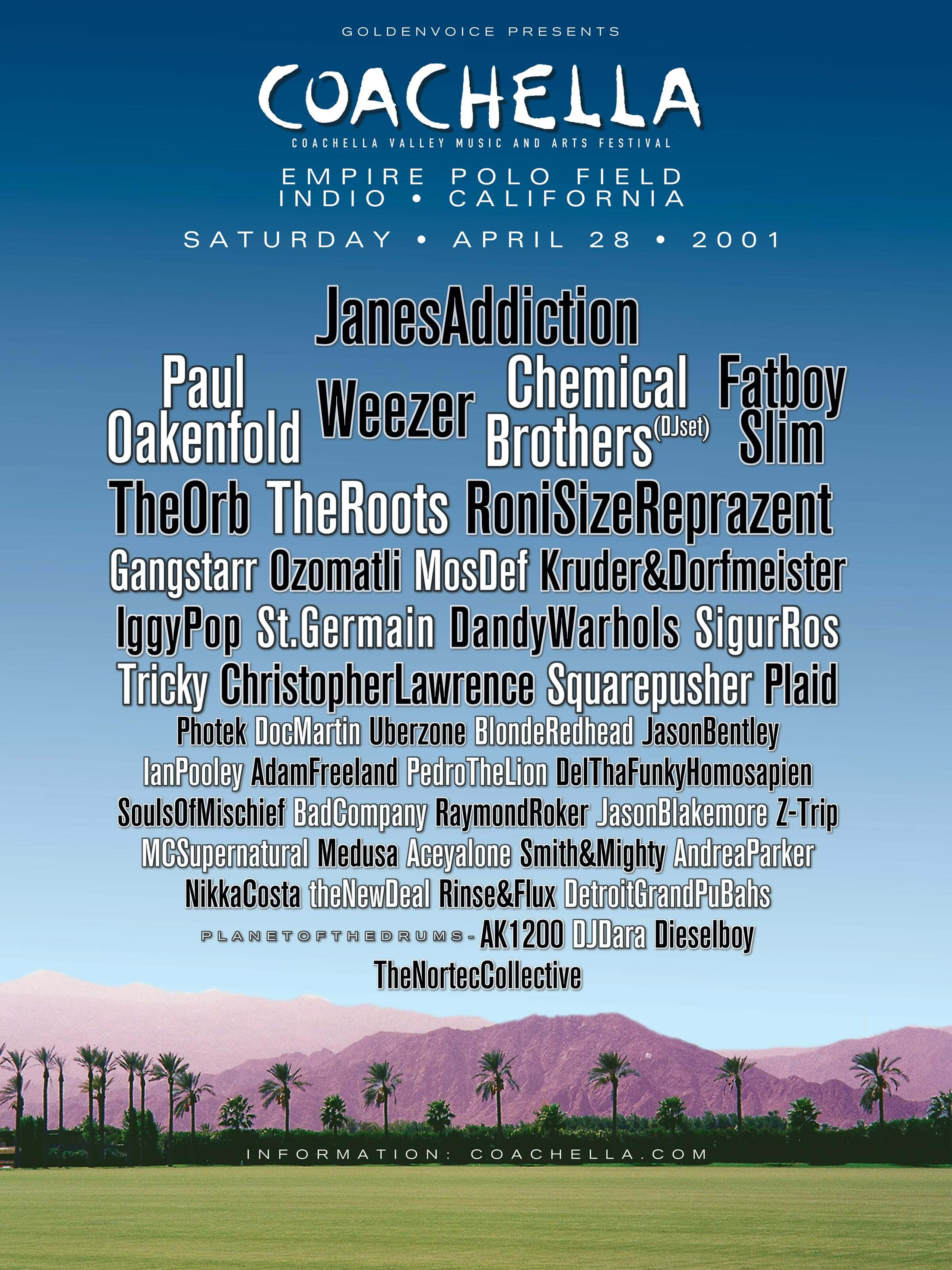 Coachella 2001 Lineup Poster