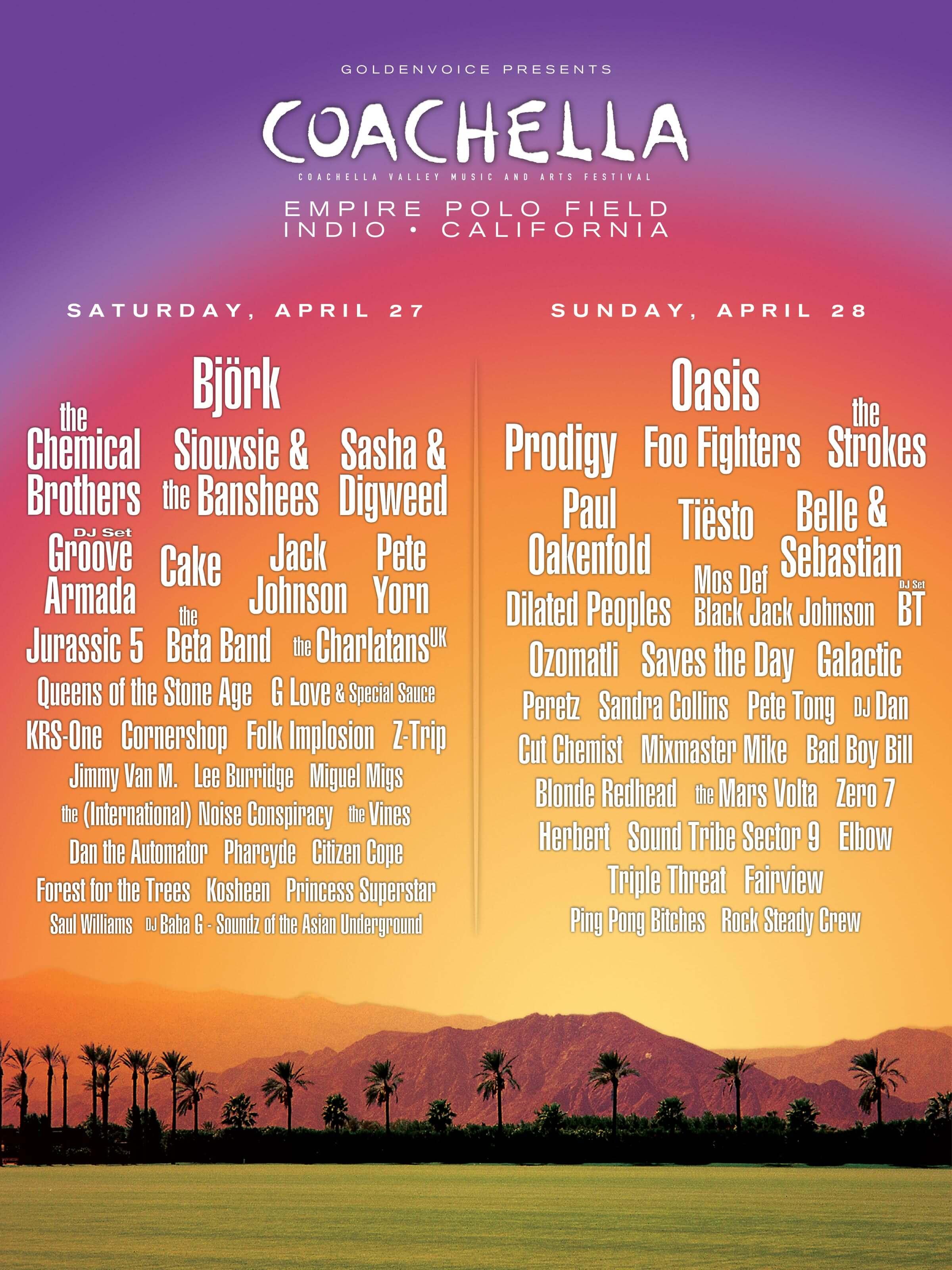 Coachella 2002 Lineup Poster