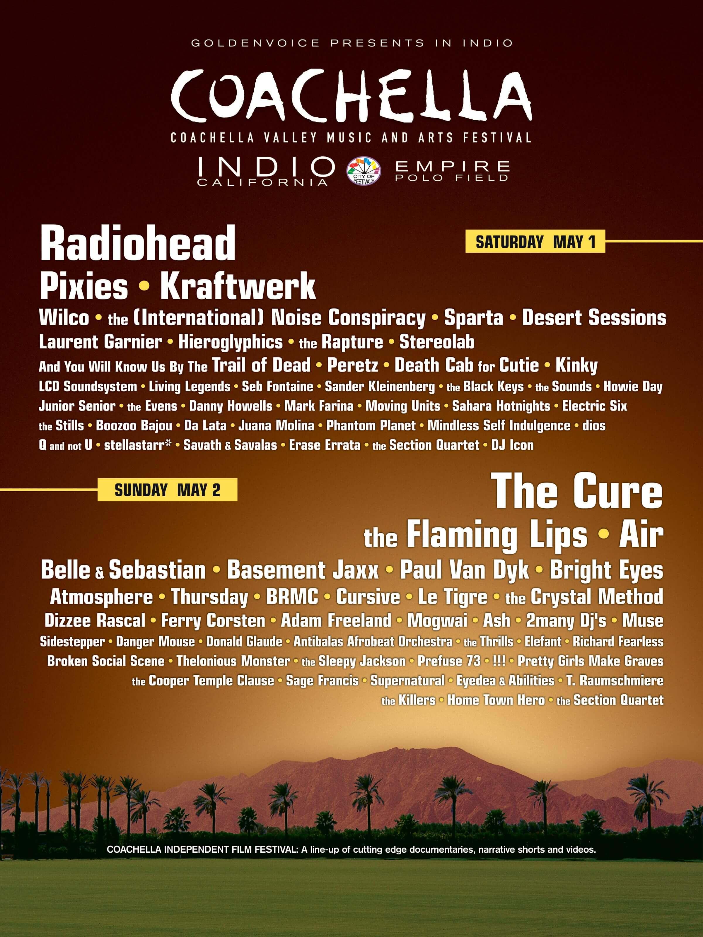 Coachella 2004 Lineup Poster