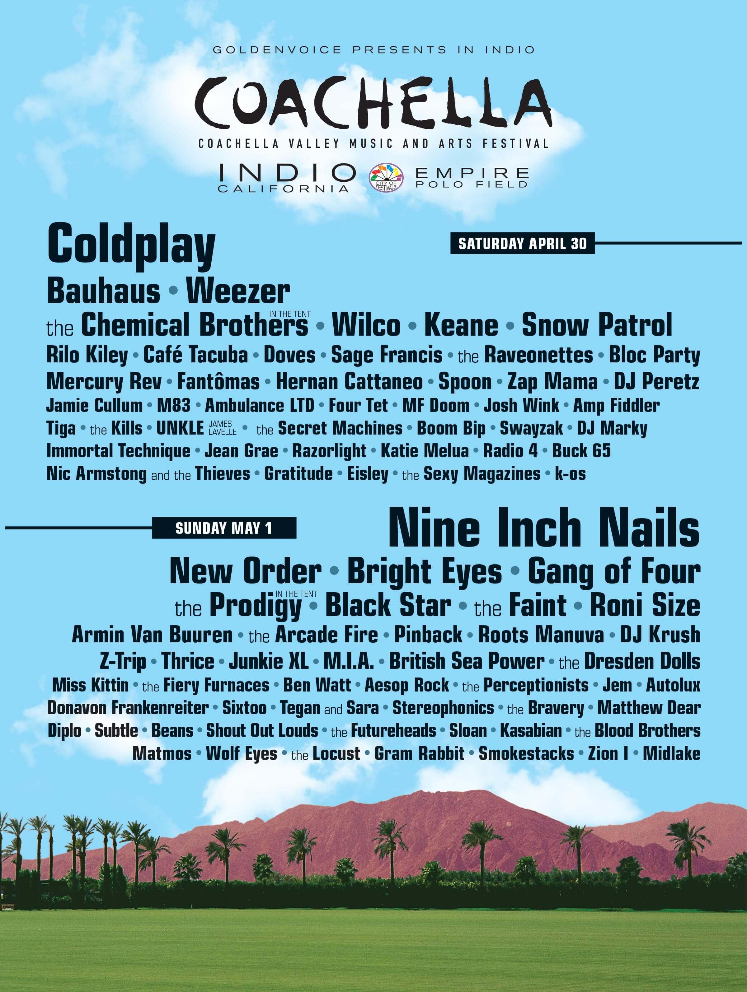Coachella 2005 Lineup Poster