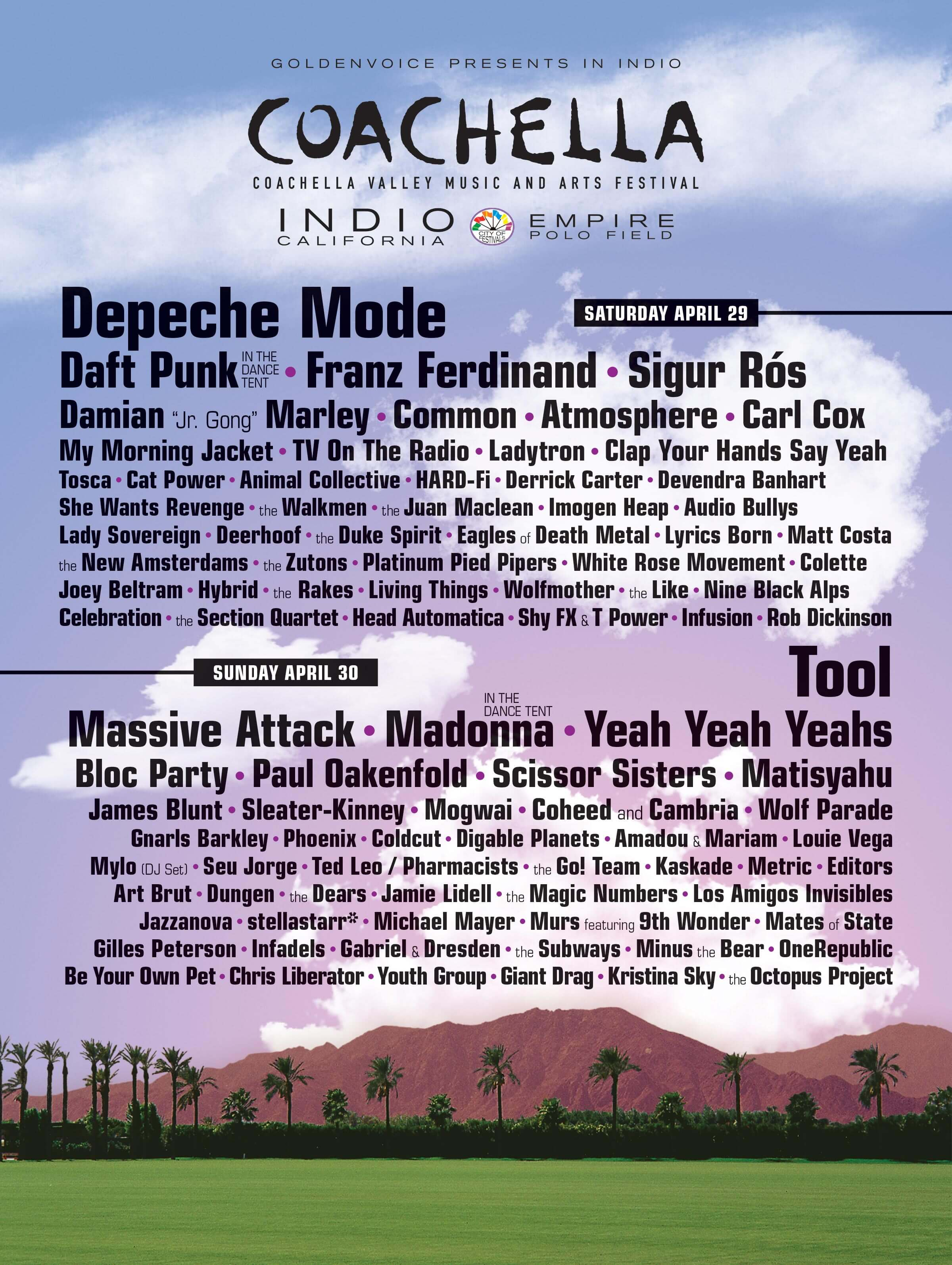 Coachella 2006 Lineup Poster
