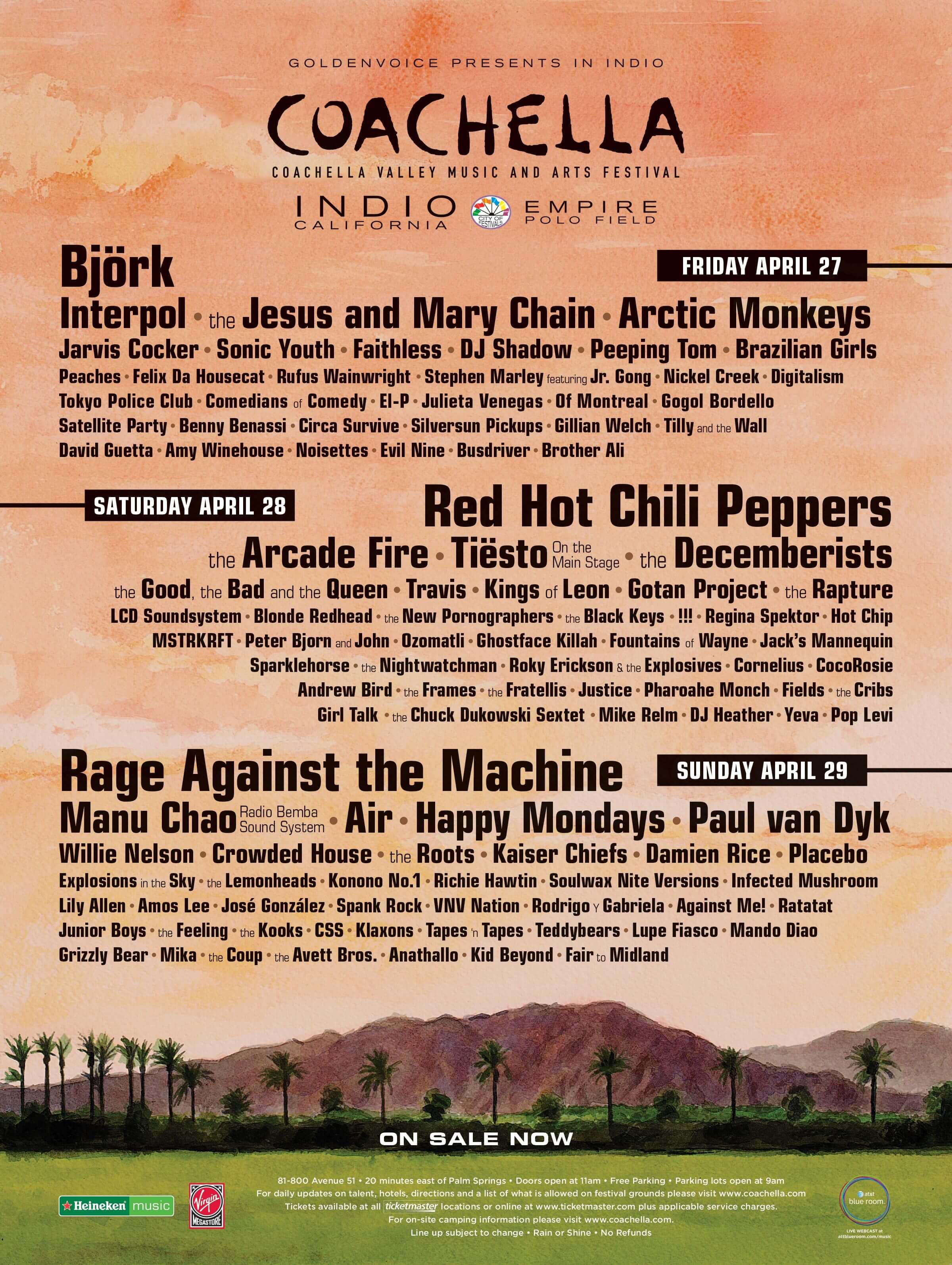 Coachella 2007 Lineup Poster