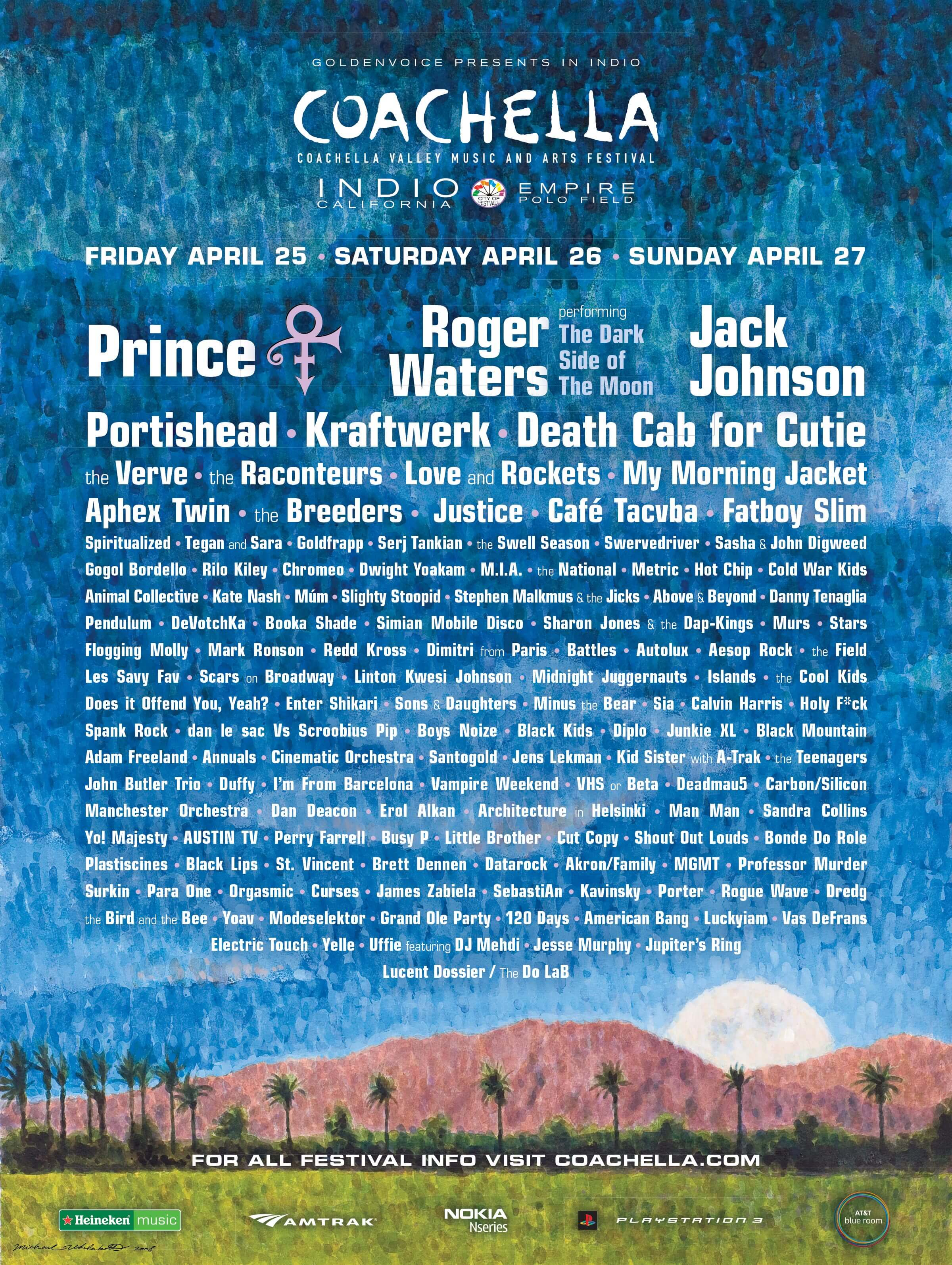 Coachella 2008 Lineup Poster