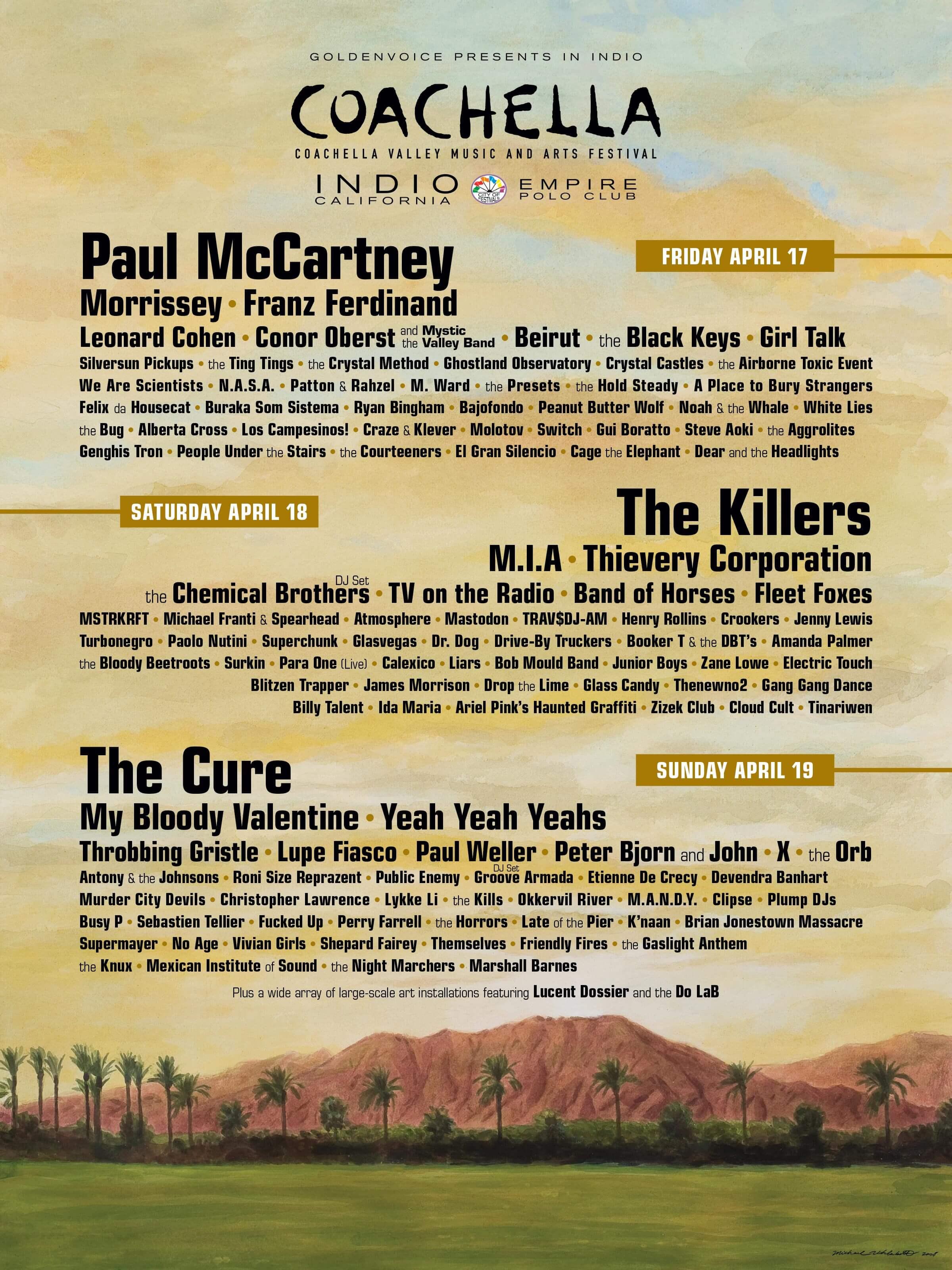 Coachella 2009 Lineup Poster