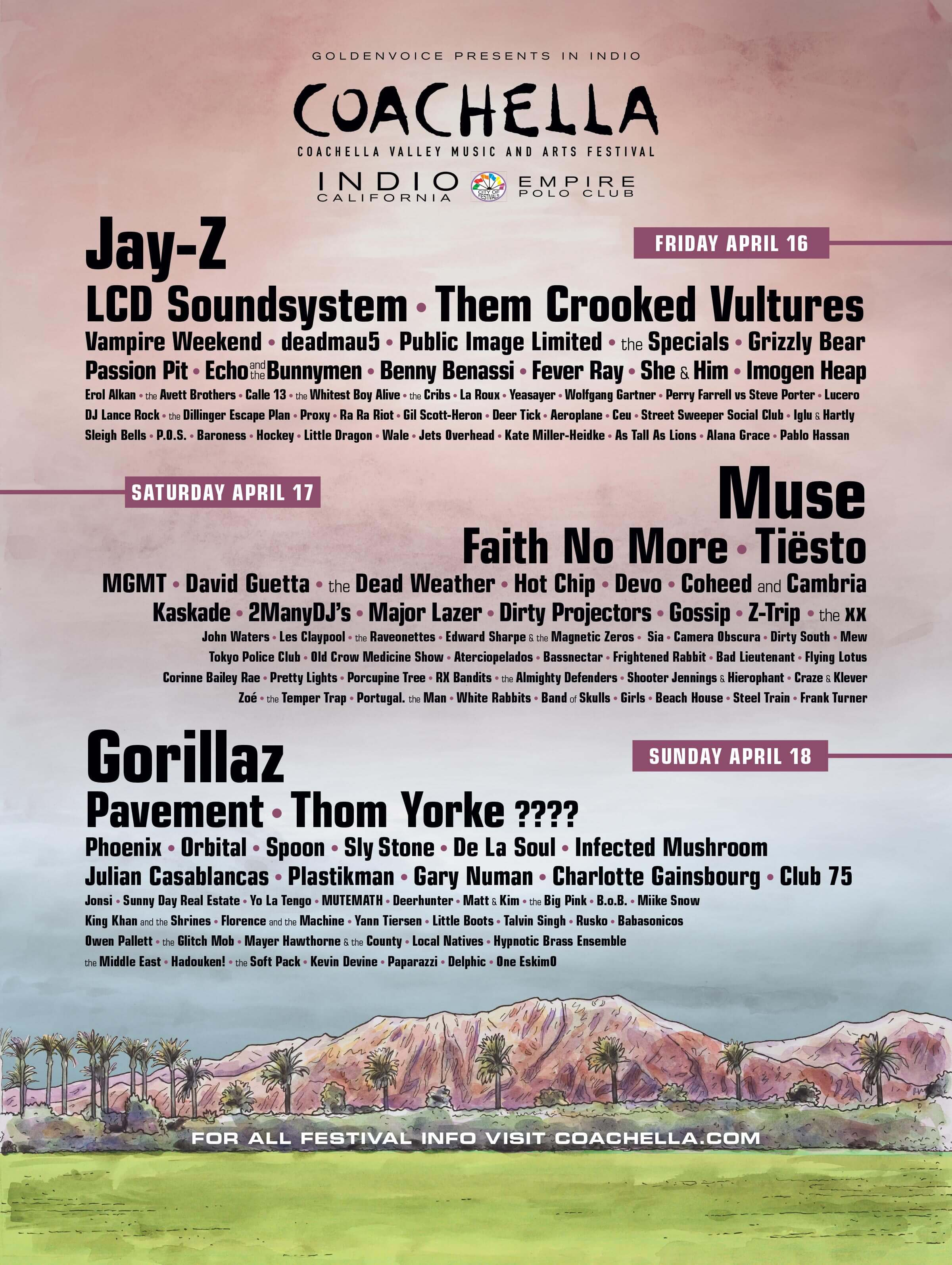 Coachella 2010 Lineup Poster