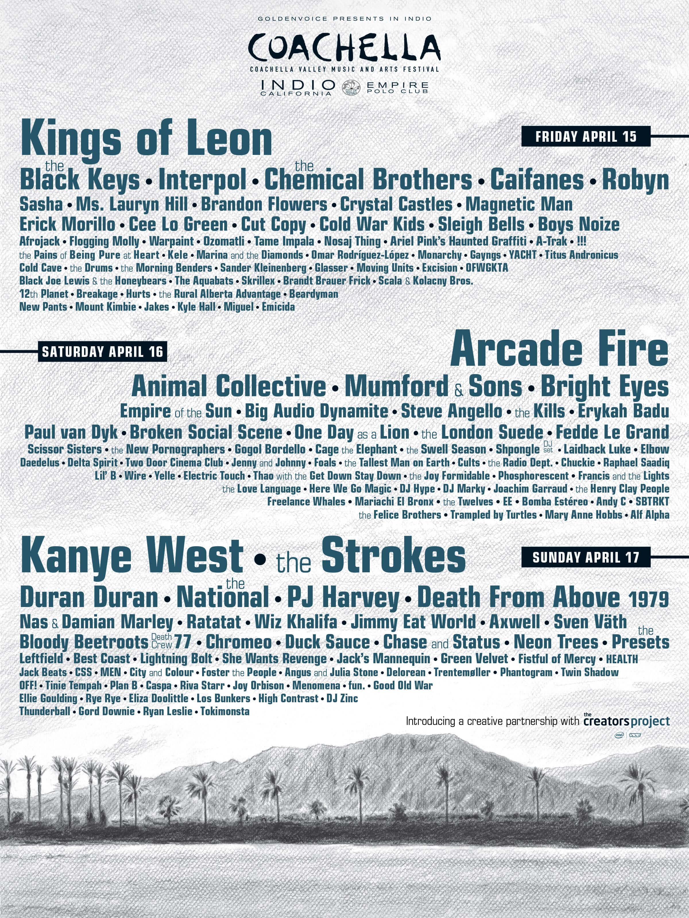 Coachella 2011 Lineup Poster