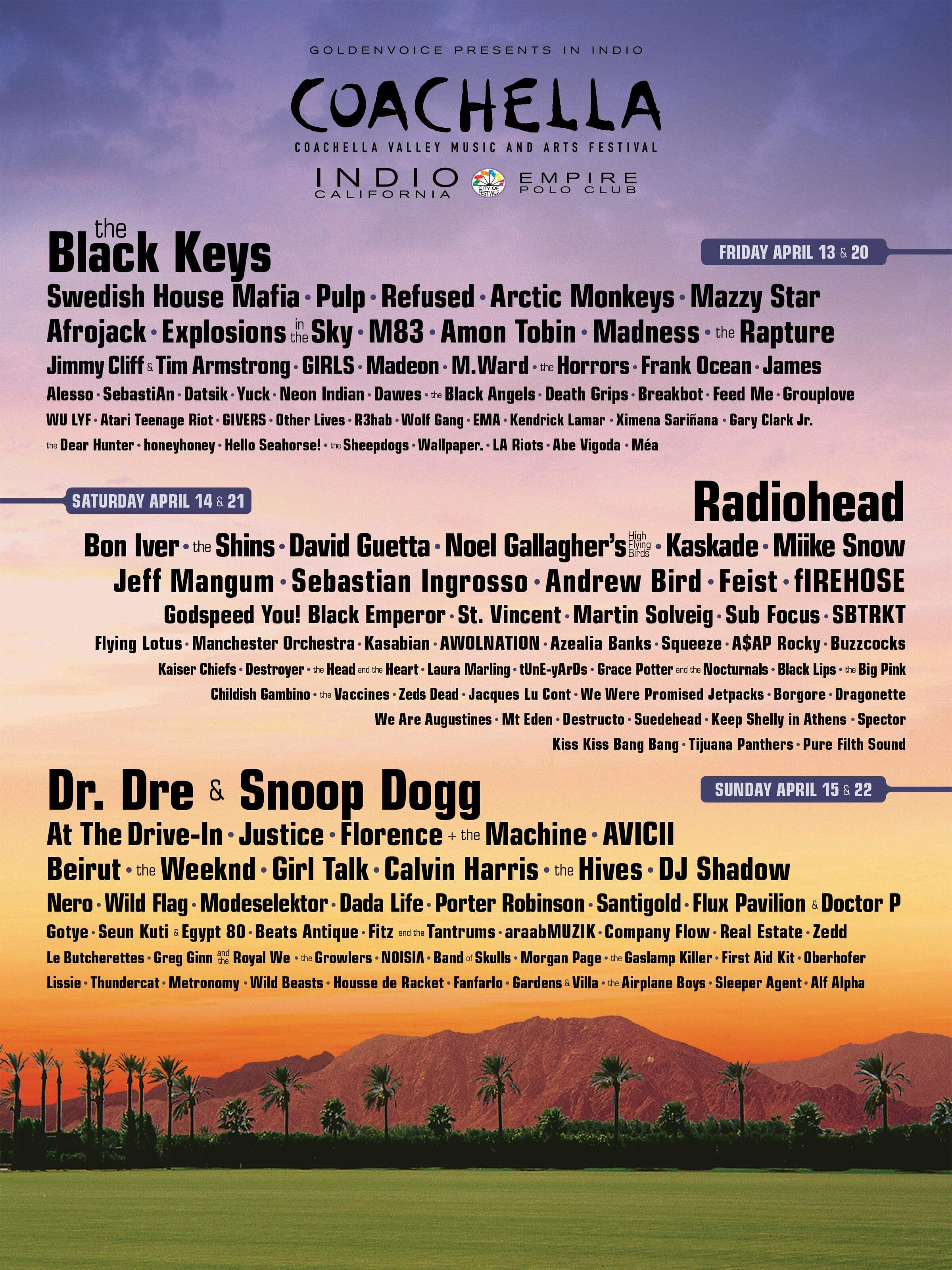 Coachella 2012 Lineup Poster