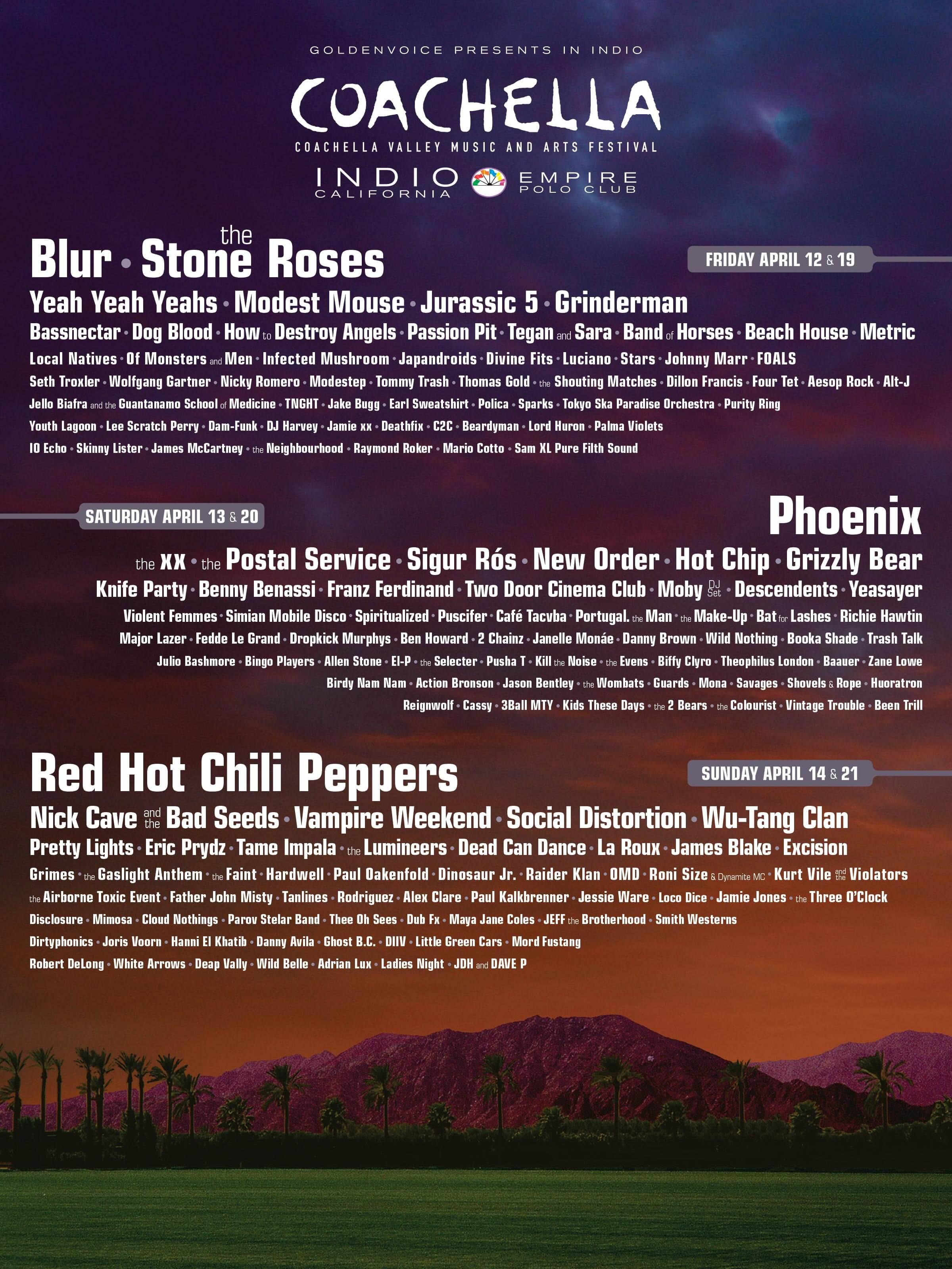 Coachella 2013 Lineup Poster