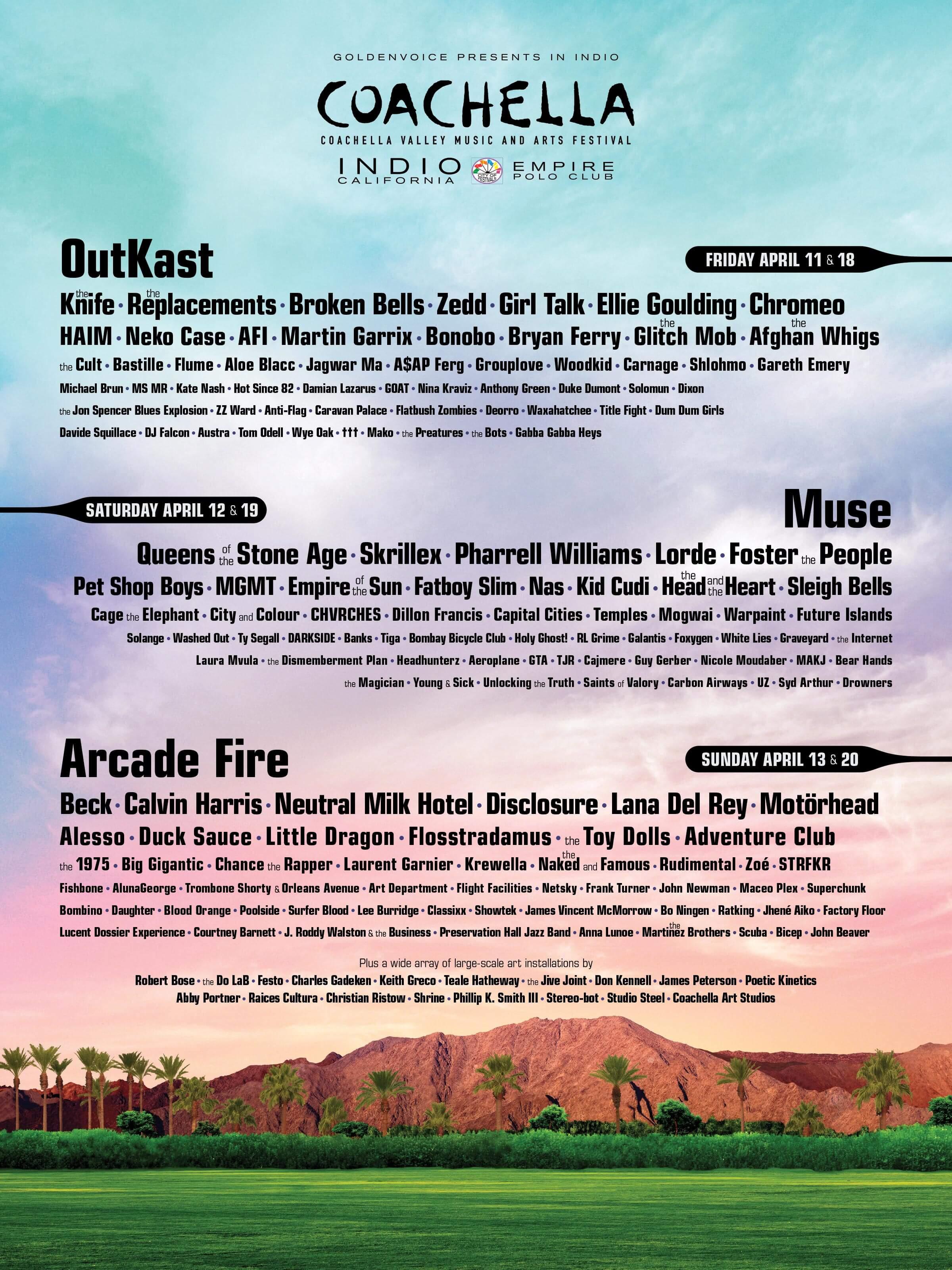 Coachella 2014 Lineup Poster