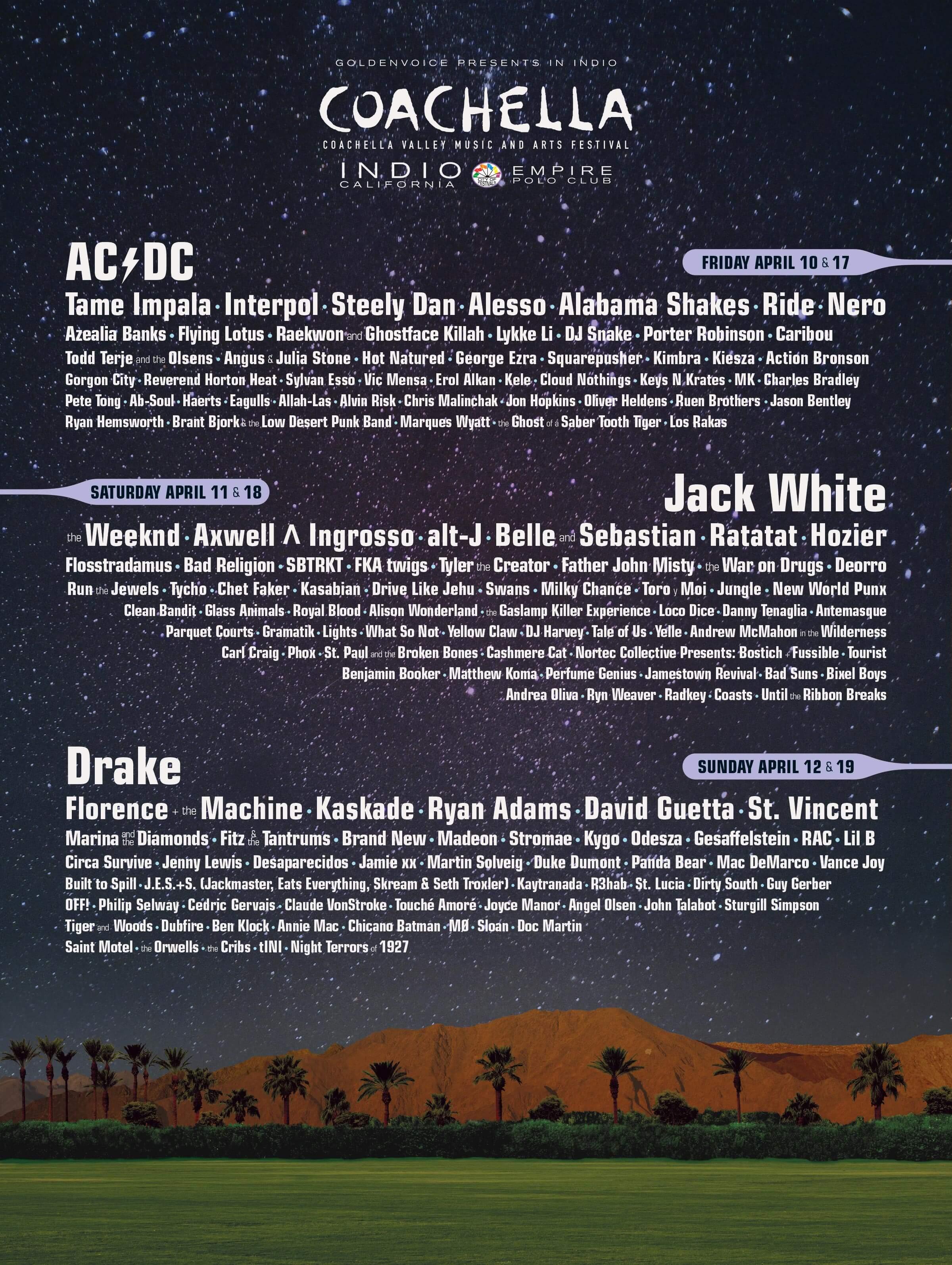 Coachella 2015 Lineup Poster