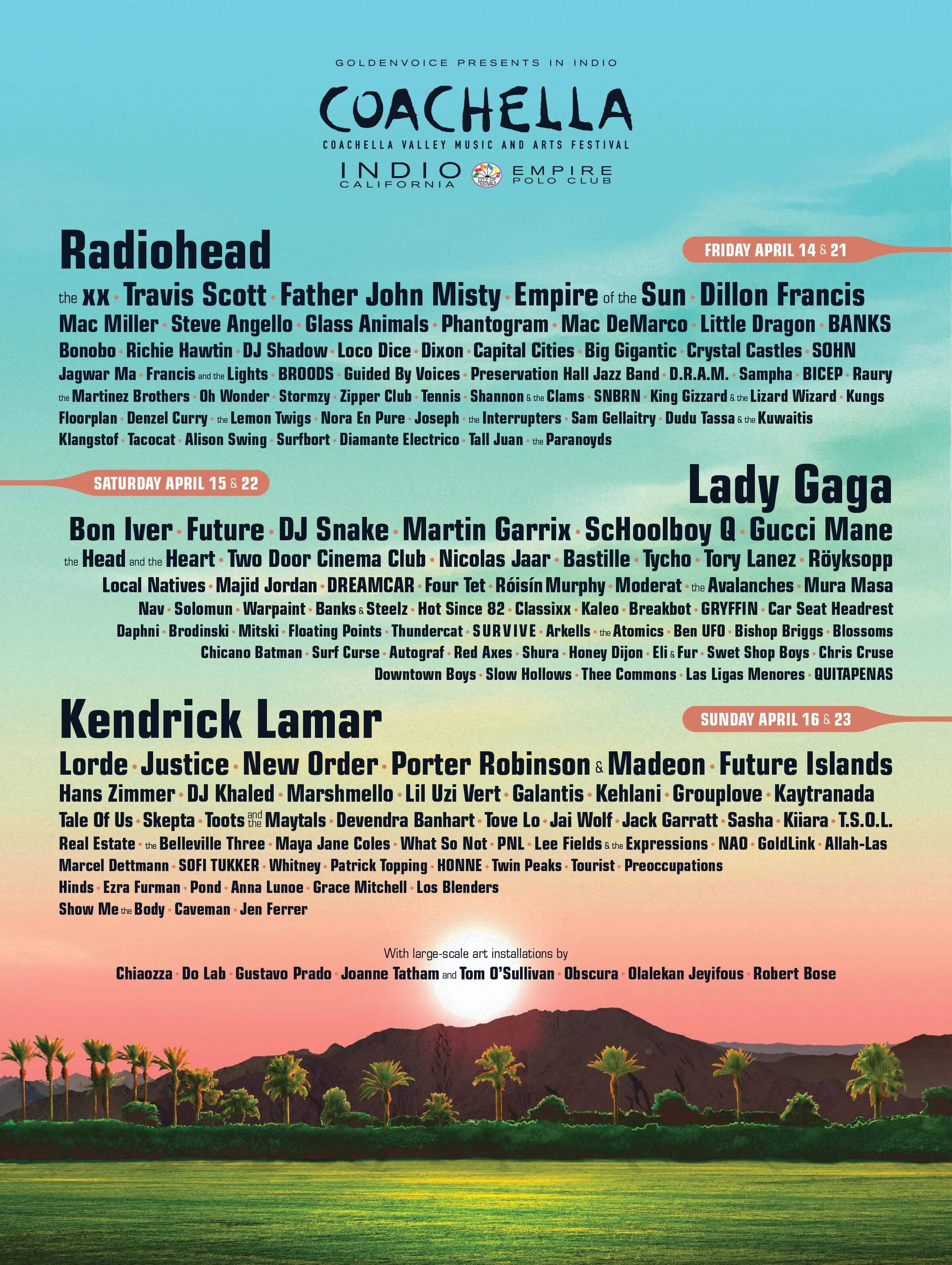Coachella 2017 Lineup Poster
